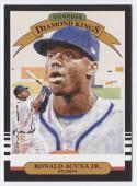 2019 Donruss #16 Ronald Acuna Jr. Diamond King NM-MT Atlanta Braves