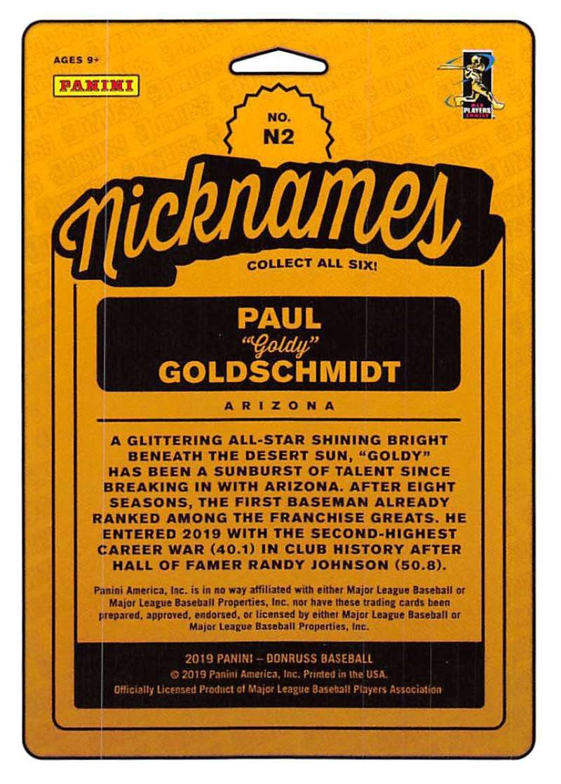 2019 Donruss Nicknames Rapture Baseball Checklist | Ultimate Cards