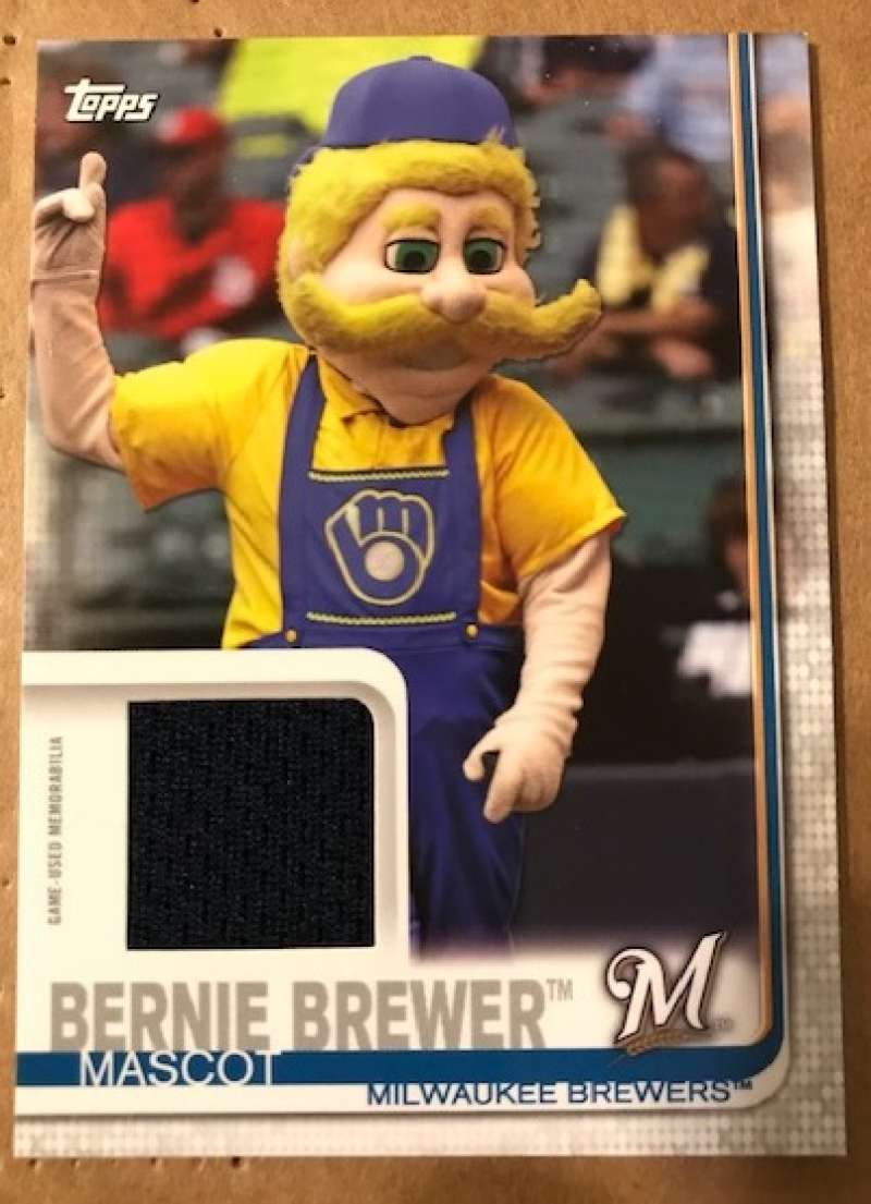 2019 Topps Opening Day Mascot Relics