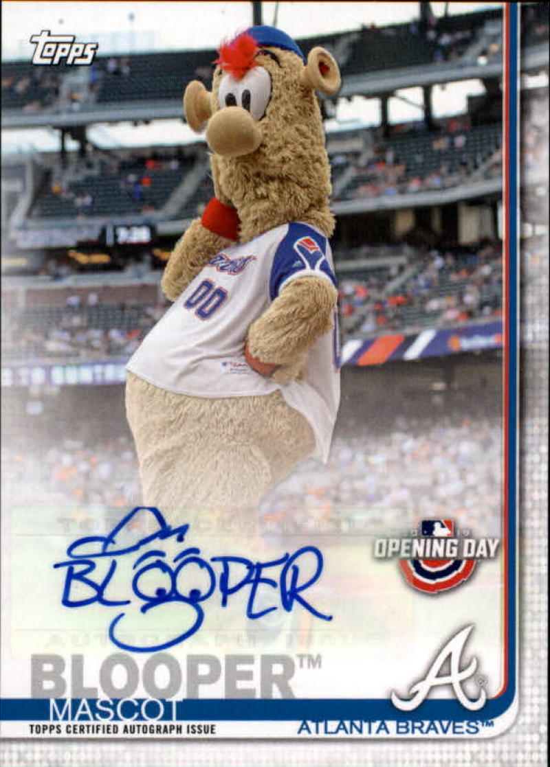 2019 Topps Opening Day Mascot Autographs