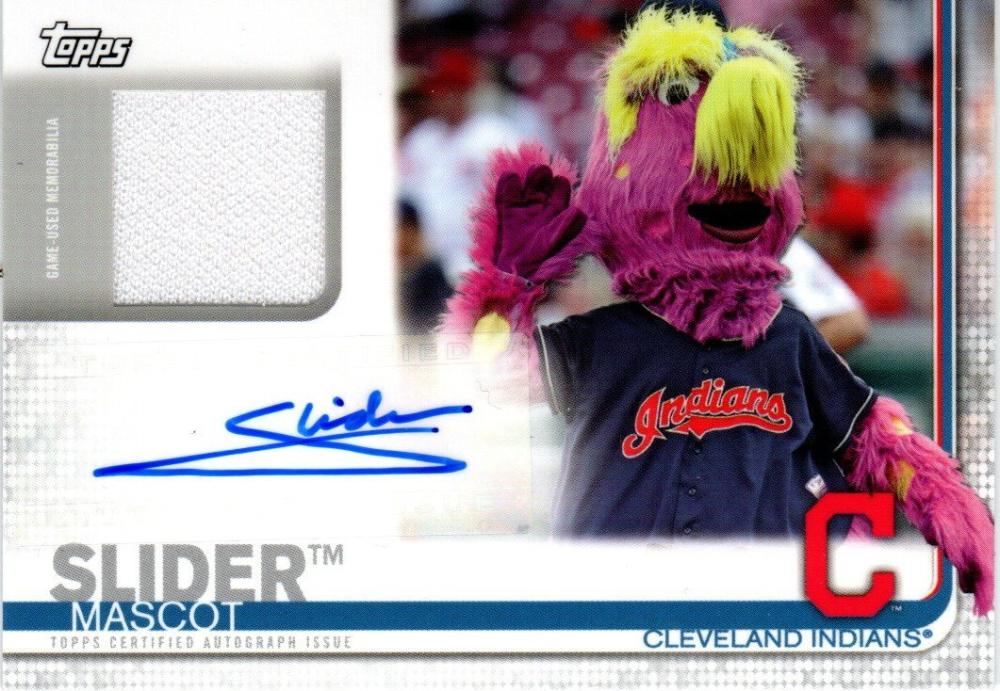 2019 Topps Opening Day Mascot Autographed Relics