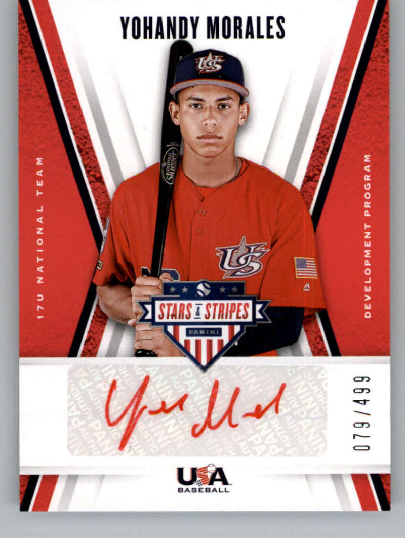 2019 Panini Stars and Stripes 17U National Team Signatures Red Ink