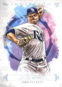 2019 Topps Inception Baseball #87 Jalen Beeks Tampa Bay Rays  RC Rookie  Official MLB Trading Card