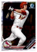 2019 MLB Bowman Chrome Prospects BCP-60 Nolan Gorman St. Louis Cardinals  Official Baseball Card produced by Topps
