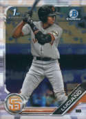 2019 MLB Bowman Chrome Prospects BCP-82 Marco Luciano San Francisco Giants  Official Baseball Card produced by Topps