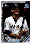 2019 MLB Bowman Chrome Prospects BCP-104 Victor Mesa Jr. Miami Marlins  Official Baseball Card produced by Topps