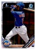 2019 MLB Bowman Chrome Prospects BCP-107 Ronny Mauricio New York Mets  Official Baseball Card produced by Topps