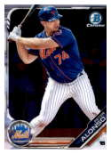 2019 MLB Bowman Chrome Prospects BCP-127 Peter Alonso New York Mets  Official Baseball Card produced by Topps