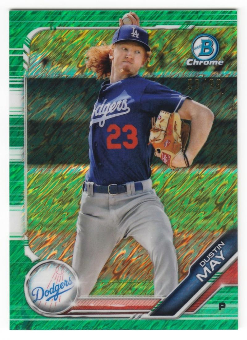 2019 Bowman  Chrome Prospects Refractors Green Shimmer