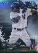 2019 MLB Bowman Scouts Top 100 Chrome Refractor #BTP-71 Estevan Florial New York Yankees  Official Baseball Card produced by Topps