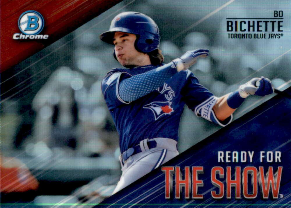 2019 MLB Bowman Ready for the Show Chrome Refractor #RFTS-2 Bo Bichette Toronto Blue Jays  Official Baseball Card produced by Topps