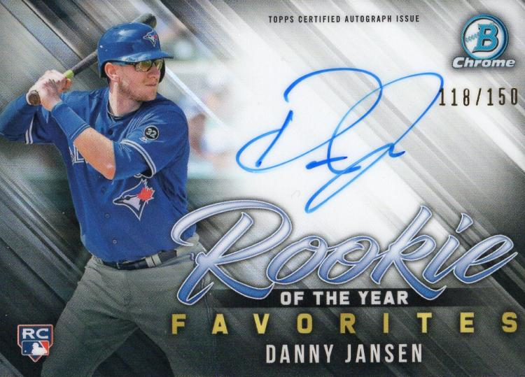 2019 Bowman  Rookie of the Year Favorites Autographs