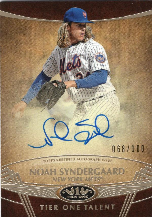 2019 Topps Tier One Talent Autographs