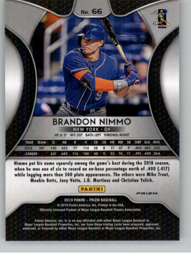 GOTBASEBALLCARDS 2018 Topps Gypsy Queen #155 Brandon Nimmo New York Mets Baseball Card
