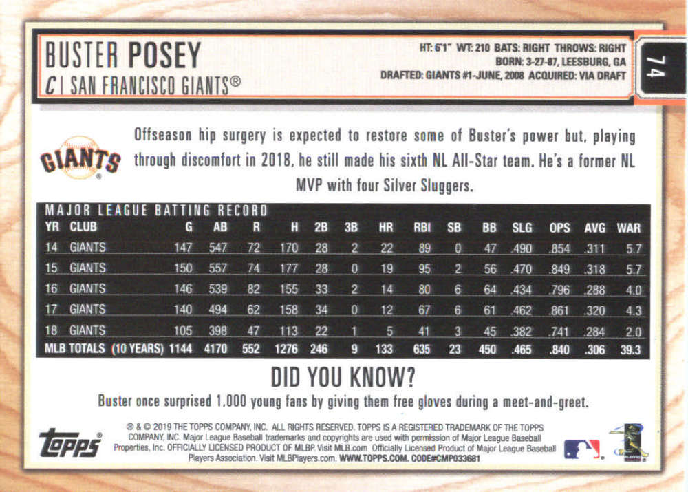2019-Topps-BIG-LEAGUE-MLB-Baseball-GOLD-Parallel-Pick-Your-Cards-Make-a-Lot thumbnail 83