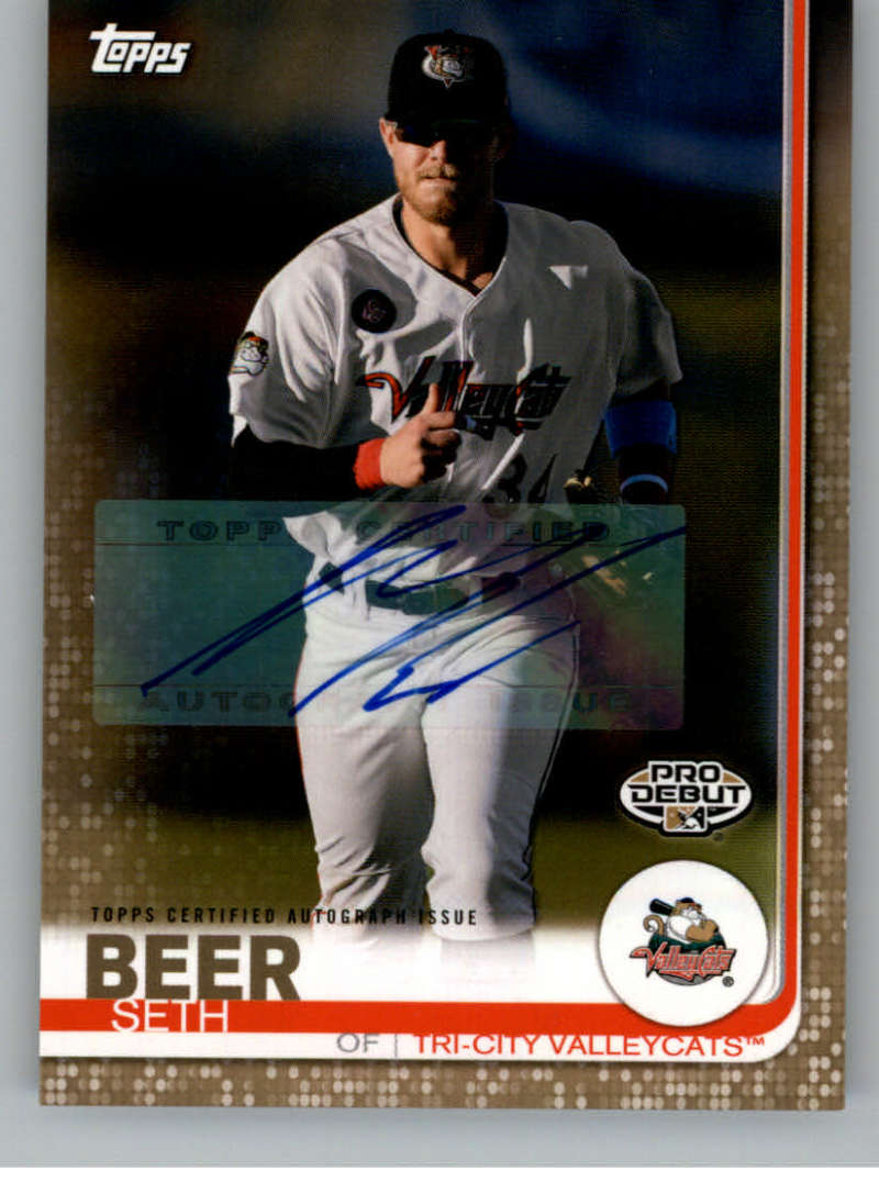 2019 Topps Pro Debut Autographs Gold