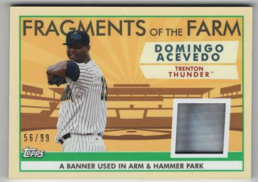 2019 Topps Pro Debut Fragments of the Farm Relics Green