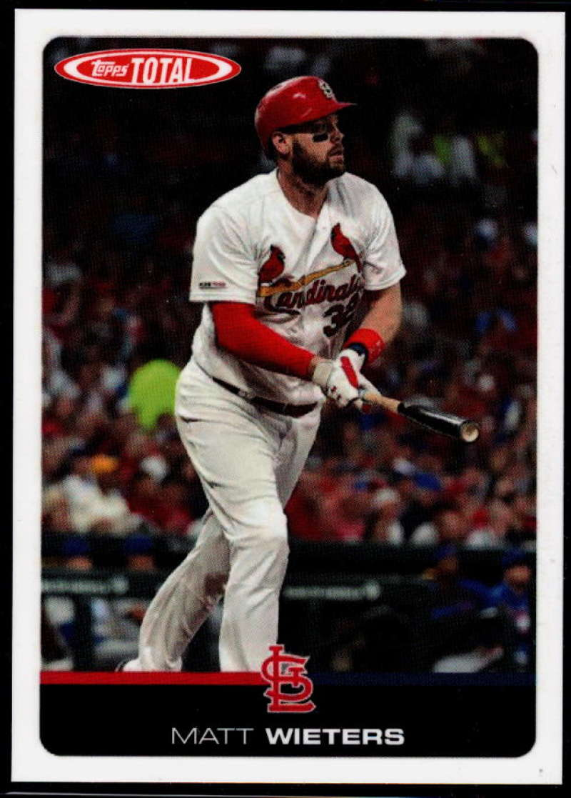 2019 Topps Total (Wave 6) Baseball #517 Matt Wieters  St. Louis Cardinals  Official MLB Trading Card Limited to under 600 made RARE