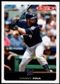 2019 Topps Total (Wave 5) Baseball #496 Manny Pina Milwaukee Brewers  Official MLB Trading Card Limited Print Run (no streaks on actual card)