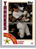 2019 Topps Series 2 Baseball 35th Anniversary 1984 '84 All-Stars #84AS-AJ Aaron Judge New York Yankees  Official MLB Trading Card