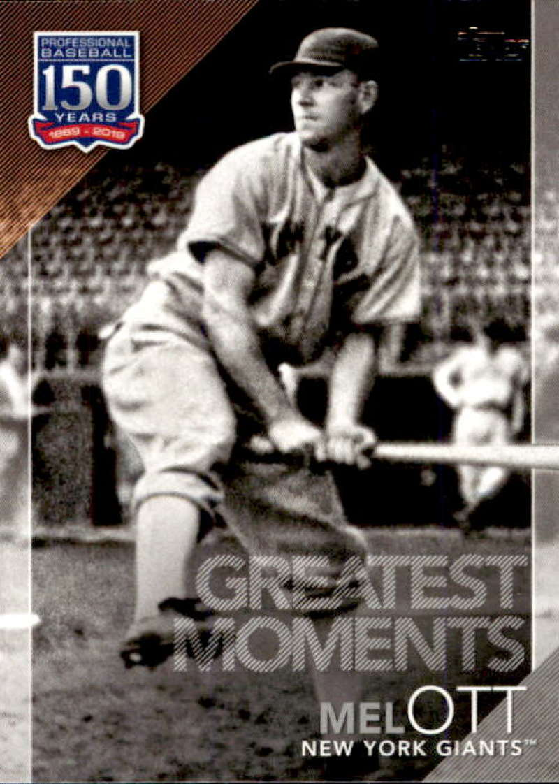 2019 Topps  150 Years of Baseball Greatest Moments