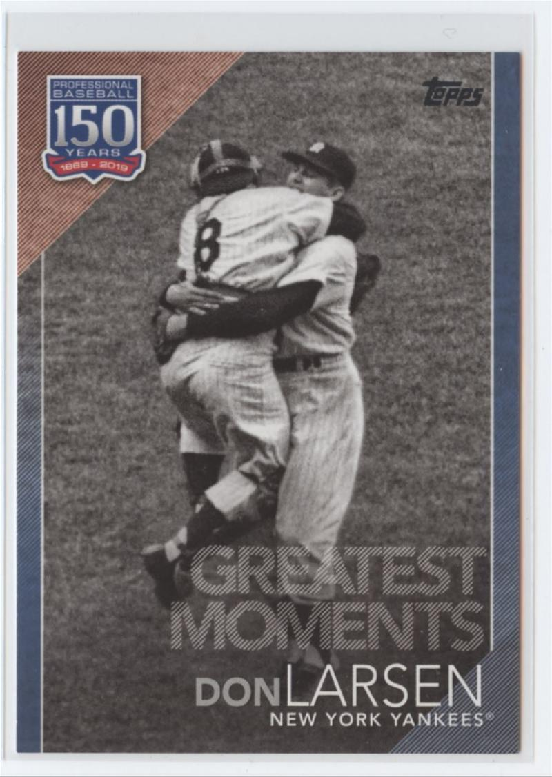 2019 Topps  150 Years of Baseball Greatest Moments Blue