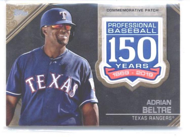 2019 Topps  150th Anniversary Manufactured Patches Gold