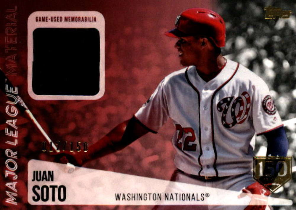 2019 Topps  Major League Material Series 2 150th Anniversary