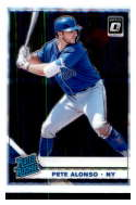 2019 Donruss Optic Baseball #82 Pete Alonso New York Mets Rated Rookie Official MLBPA Trading Card From Panini America