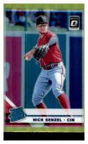 2019 Donruss Optic Lime Green Holo Prizm Baseball #89 Nick Senzel Cincinnati Reds Rated Rookie Official MLBPA Trading Ca