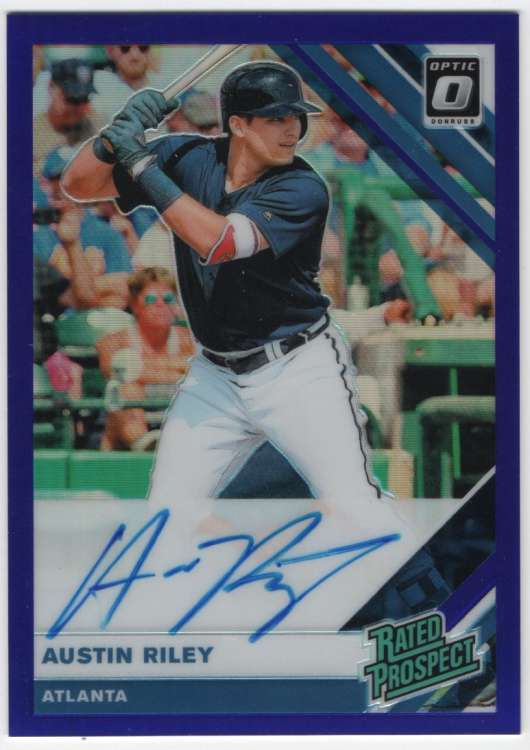 2019 Donruss Optic Rated Prospects Signatures Blue