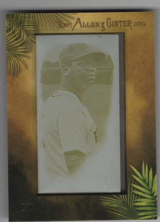 2019 Allen and Ginter  Mini Printing Plates Yellow