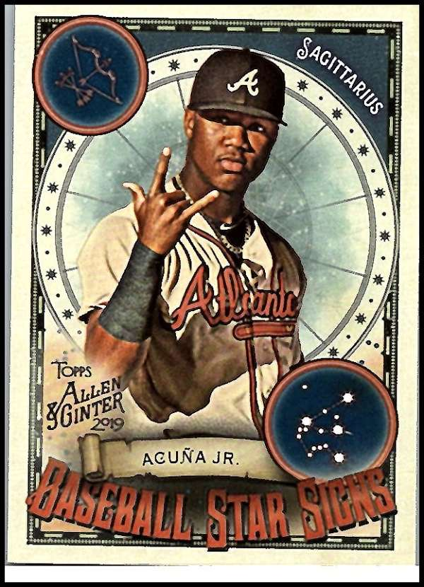 2019 Allen and Ginter  Baseball Star Signs
