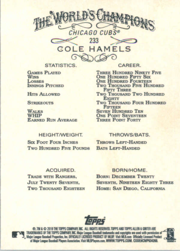 thumbnail 65 - 2019 Topps Allen & Ginter Baseball Gold Hot Box - Pick A Player - Cards 201-400