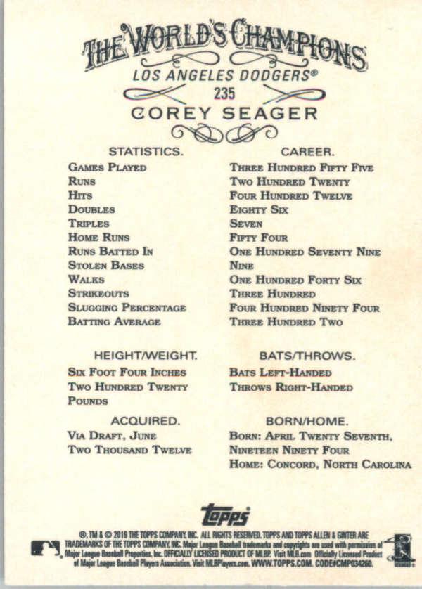 thumbnail 69 - 2019 Topps Allen & Ginter Baseball Gold Hot Box - Pick A Player - Cards 201-400
