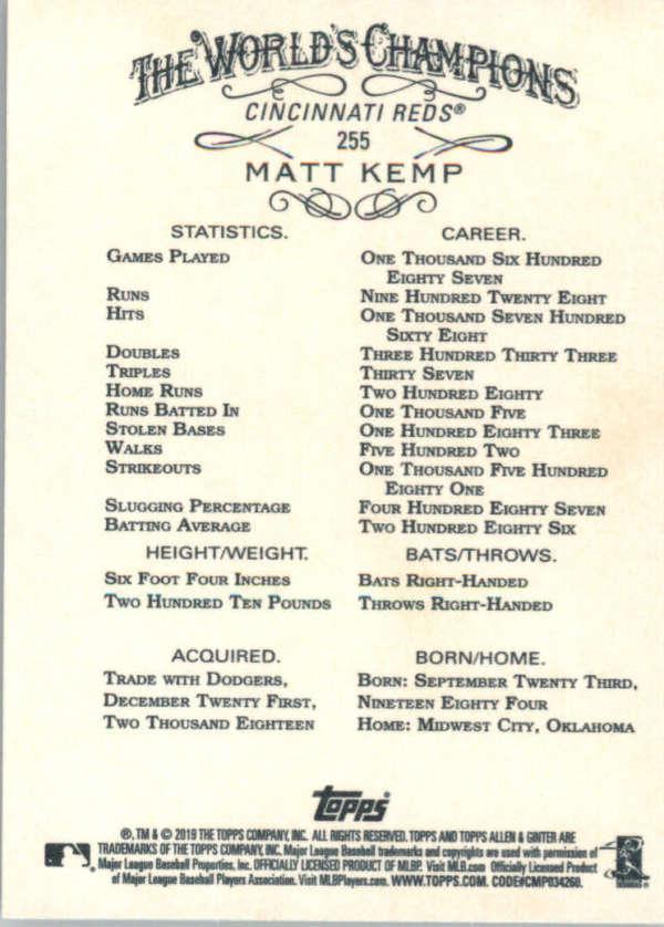thumbnail 106 - 2019 Topps Allen & Ginter Baseball Gold Hot Box - Pick A Player - Cards 201-400
