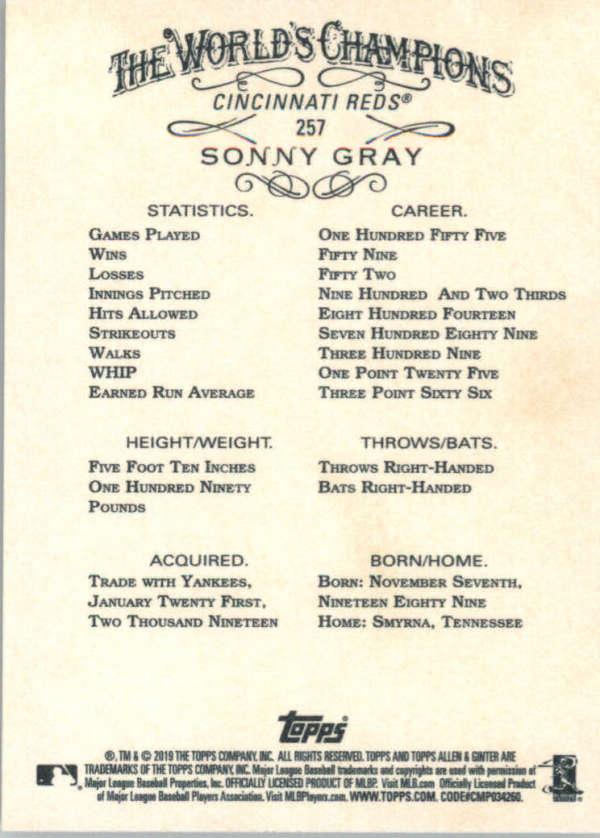 thumbnail 110 - 2019 Topps Allen & Ginter Baseball Gold Hot Box - Pick A Player - Cards 201-400