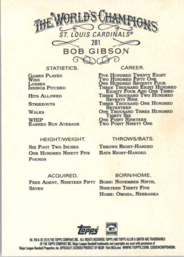 thumbnail 151 - 2019 Topps Allen & Ginter Baseball Gold Hot Box - Pick A Player - Cards 201-400