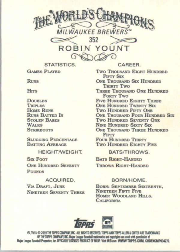 thumbnail 191 - 2019 Topps Allen & Ginter Baseball Gold Hot Box - Pick A Player - Cards 201-400
