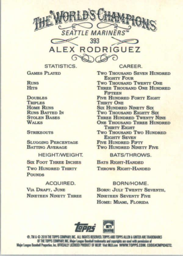 thumbnail 260 - 2019 Topps Allen & Ginter Baseball Gold Hot Box - Pick A Player - Cards 201-400