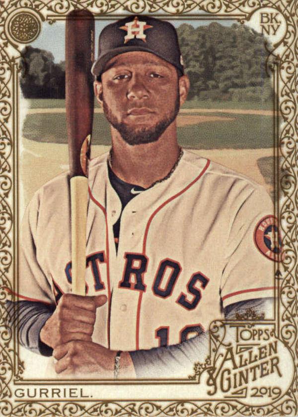 thumbnail 38 - 2019 Topps Allen & Ginter Baseball Gold Hot Box - Pick A Player - Cards 201-400
