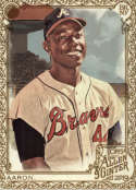 2019 Allen and Ginter Gold Baseball #50 Hank Aaron Atlanta Braves Official MLB Trading Card From Topps
