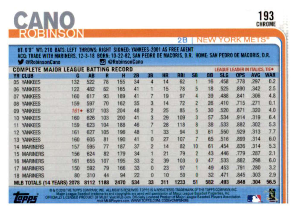 2019-Topps-Chrome-Baseball-Singles-1-204-YOU-PICK-FROM-LIST-VLAD-TATIS-ALONSO thumbnail 386