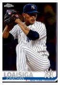 2019 Topps Chrome Baseball #168 Jonathan Loaisiga RC Rookie Card New York Yankees Official MLB Trading Card on Premium C