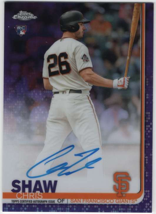 2019 Topps Chrome Rookie Autographs Refractors Purple