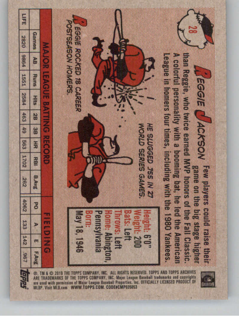 2019-Topps-Archives-Baseball-Singles-1-150-YOU-PICK-FROM-LIST miniature 55