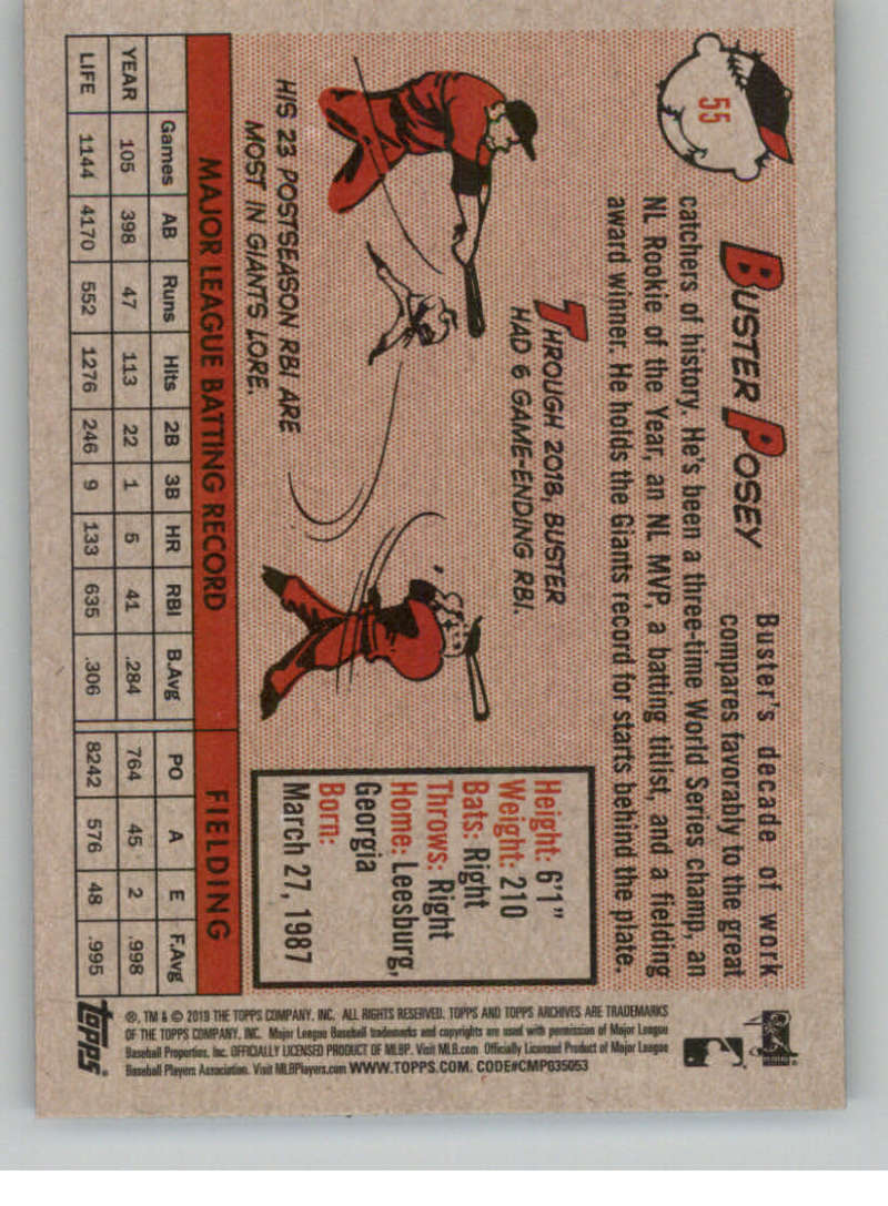 2019-Topps-Archives-Baseball-Singles-1-150-YOU-PICK-FROM-LIST miniature 109