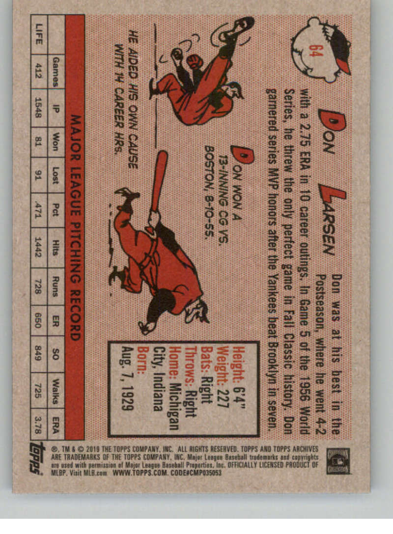 2019-Topps-Archives-Baseball-Singles-1-150-YOU-PICK-FROM-LIST miniature 127