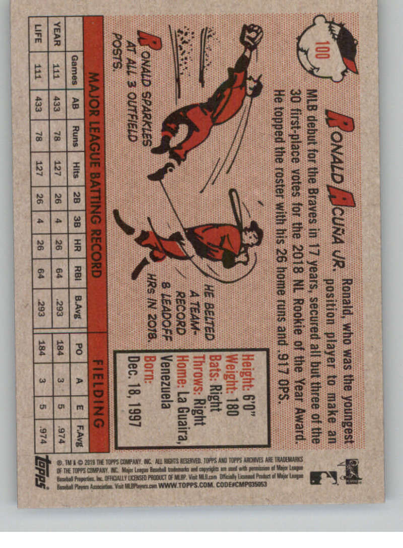2019-Topps-Archives-Baseball-Singles-1-150-YOU-PICK-FROM-LIST miniature 199