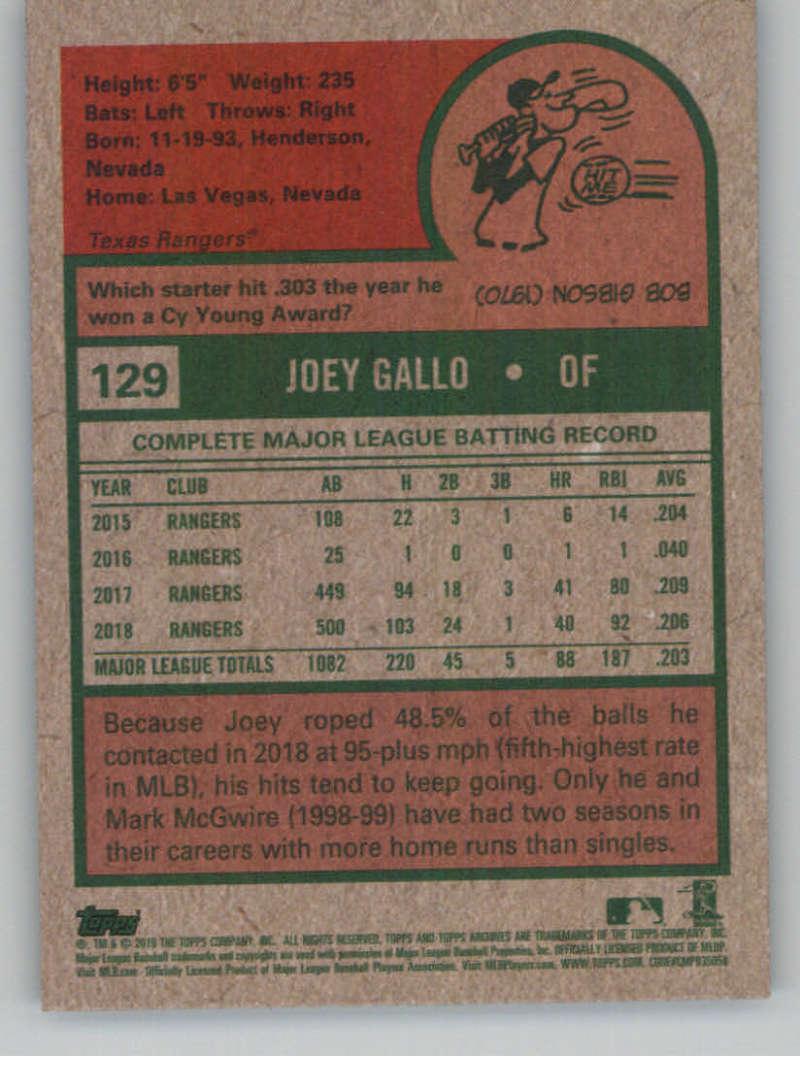 2019-Topps-Archives-Baseball-Singles-1-150-YOU-PICK-FROM-LIST miniature 257